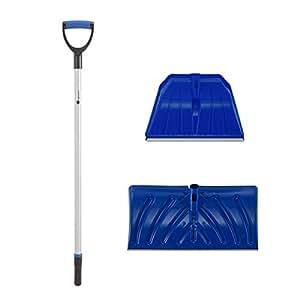 orientools Heavy Duty–Pala para nieve/pala de nieve conjuntos con dos tipos de hoja y D-grip mango, perfecto para shoveling o Empujar nieve