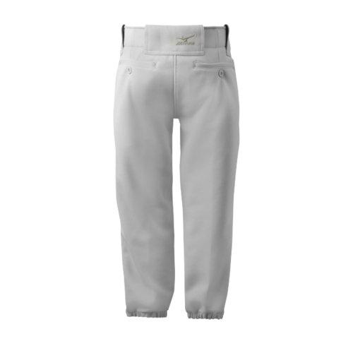 Mizuno Girls (Youth) Belted Softball Pant, Grey, Small
