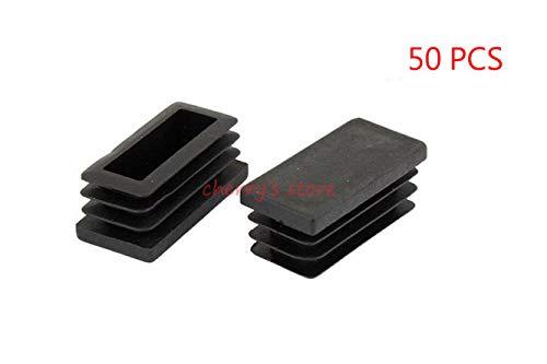 Ochoos 40 x 20mm Plastic Rectangle Tube Inserts End Blanking Caps Black 50 Pcs by Ochoos