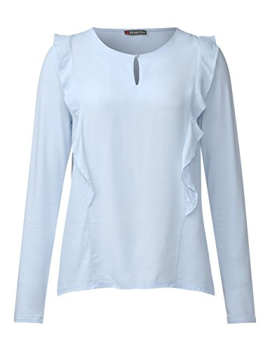 Street One 311884, Maglietta a Maniche Lunghe Donna, Blau (Morning Blue 11214), 42