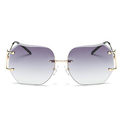 Lunettes De Soleil Covermason Hommes femmes lentille transparente verres Spectacle Metal Frame myopie lunettes Lunette Femme lunettes (Jaune) ReNIRl