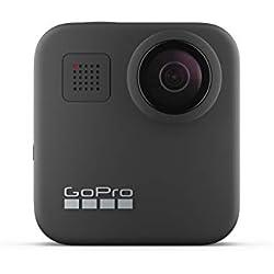 GoPro Max, Cámara de Acción Digital a Prueba de Agua 360 con Estabilización Irrompible, Pantalla Táctil y Control de Voz, Bluetooth USB Wireless, GoPro Quik, Black