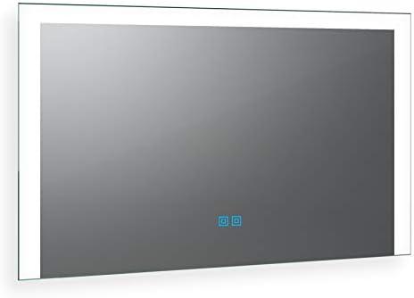 Noemi Design 2202001 - Espejo de baño con iluminación LED, fabricado en Alemania, a medida, 70 cm de ancho x 90 cm de altura, blanco cálido y frío, incluye sensor táctil doble: Amazon.es: Hogar