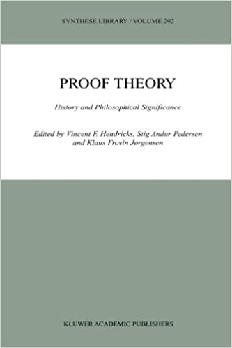 Book Proof Theory: History And Philosophical Significance (Synthese Library) (2010-12-05)