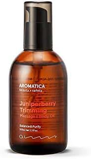 AROMATICA Juniper Berry Trimming Massage & Body Oil 3.38oz / 100ml, Vegan