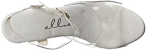 Ellie Clear Women's Clear 711 C Shoes Platform Flirt Sandal 8rv8w