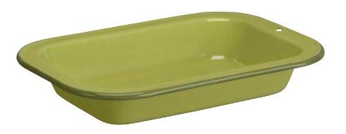Cinsa 312041 Trend Ware Enamel on Steel Multiuse Serving Plate, 1-Quart, Green Tea
