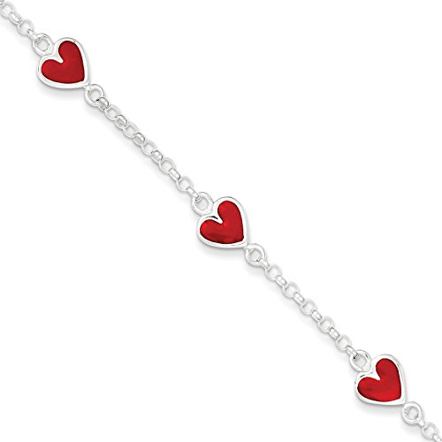 Sterling Silver Heart Rolo Lin