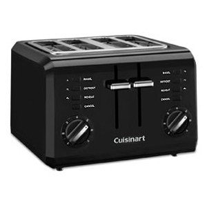 Cuisinart CPT-142BK 4-Slice Compact Toaster- – Love this toaster but was disappointed when I went to register it online and found it $30 cheaper from the manufacturer