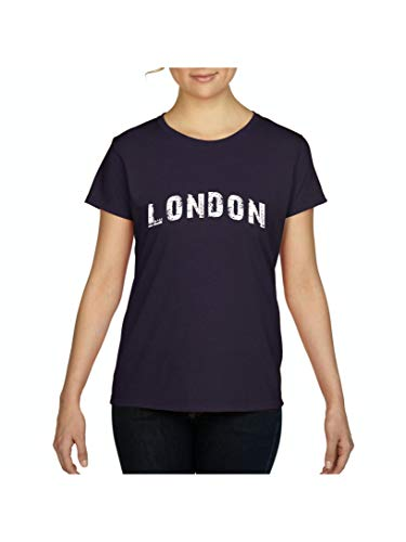 Mom`s Favorite London City UK Europe Traveler Gift Women's Short Sleeve T-Shirt (SNB) Navy -