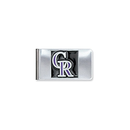 - ICE CARATS MLB Siskiyou Buckle Colorado Rockies Money Clip Man Fashion Jewelry Gift for Dad Mens for Him