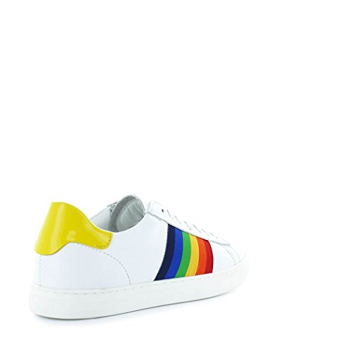 Femme Baskets Jaune Printemps New été Dsquared2 2018 Blanc Tennis Chaussures qC5xET