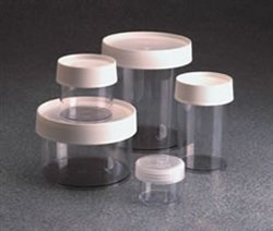 Nalgene Polycarbonate Straight-Side Wide-Mouth Jars, 500ml Capacity, 112mm O.D. x 88mm H (Case of 16)