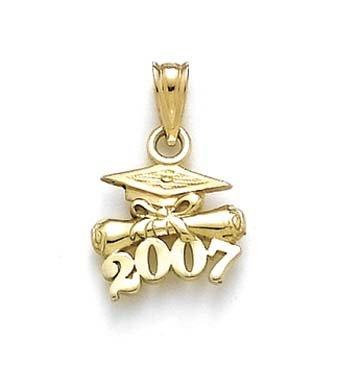 14 Carats Pendentif chapeau diplôme dégradés-JewelryWeb 2007