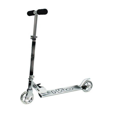 HALO 120mm Wheel Folding Inline Scooter with Chrome, Silver