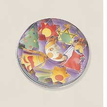 World Cuisine Paderno Tin Xmas Dough Cutter Set, 3/4 inch Height - 2 per case