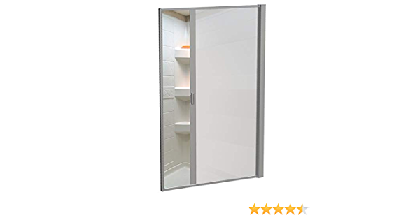 Nickel Nautilus 65x36 RD RV Shower Door Opaque Plain