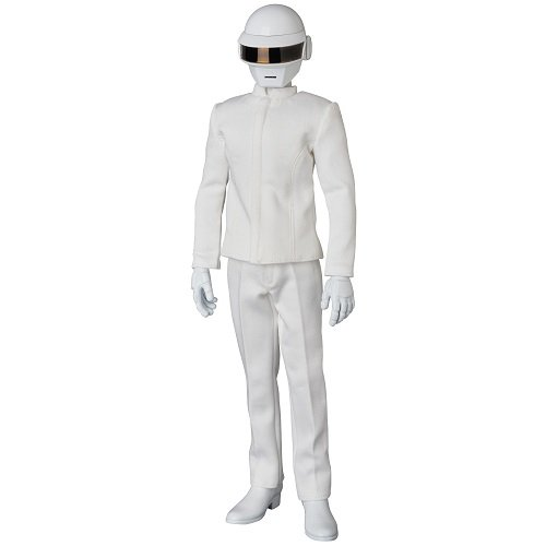 Tron Costume Guy (Medicom Daft Punk: Thomas Real Action Heroes Figure (White Suit Version))
