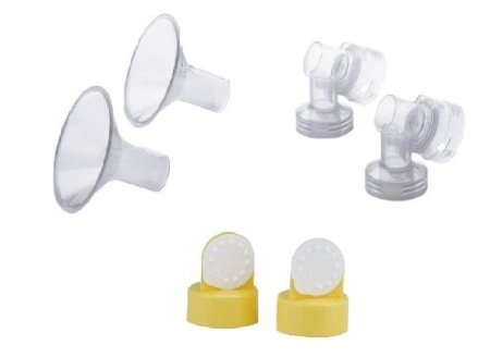 Medela Breast Shields, Connectors, Valves and Membranes (21mm Shields) by Medela