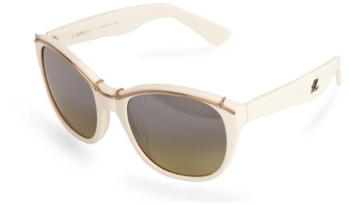 3.1 Phillip Lim Women's Elle Oval Sunglasses,White,57.5 - 3.1 Lim Eyewear Phillip