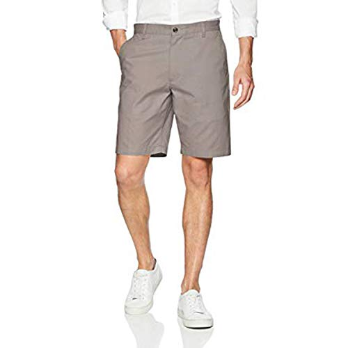 HOUBL Shorts Summer Shorts Casual Cotton Beach Men Shorts Knee Length Loose Boardshorts Masculina Male,Grey,XL