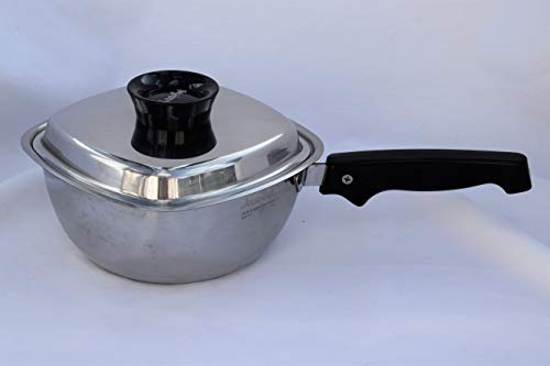 """VINTAGE WEST BEND ARISTO CRAFT 3 PLY MULTI-PLY 18/8 SURGICAL STAINLESS STEEL 1 ½ QUART / 6 CUP 7 1/2"""" SAUCEPAN SAUCE PAN WATERLESS COOKWARE MADE IN USA"""
