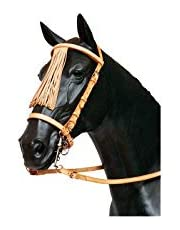 GOMES - Bridón de vaca negro con hebilla de acero inoxidable – Negro