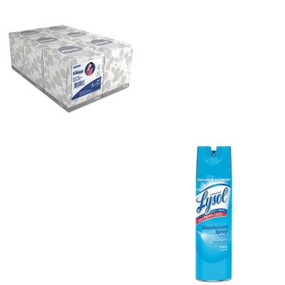 KITKIM21271RAC04675EA - Value Kit - Professional LYSOL Brand Disinfectant Spray (RAC04675EA) and KIMBERLY CLARK KLEENEX White Facial Tissue (KIM21271) by Lysol