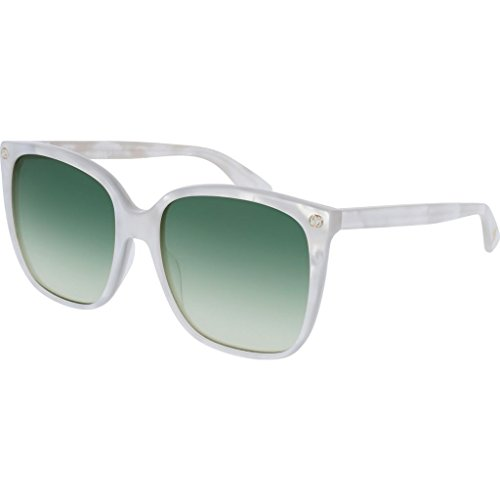 Gucci GG0022S-004 Cat Eye Sunglasses White/Green - White Gucci Shades
