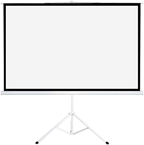 Projector Screen Tv Hd Large Movie Screen Theater Cinema Tripod Stand For Home Office Outdoor Indoor Folding Wedding Party Presentation 16 9 80 100 120 Inches 80 White Electronics