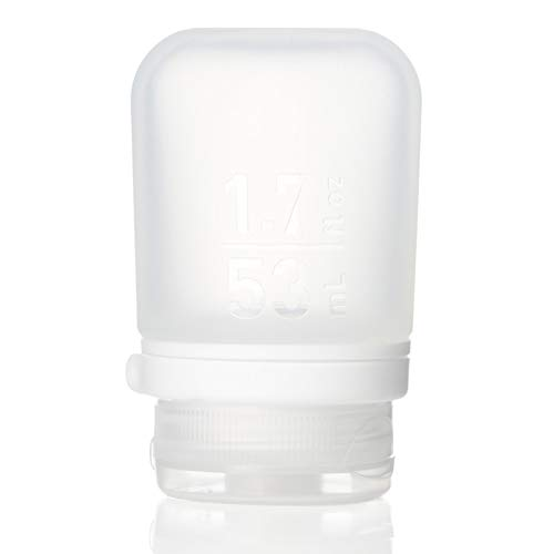 humangear Gotoob+ Silicone Travel Bottle with Locking Cap, Small (1.7oz), Clear