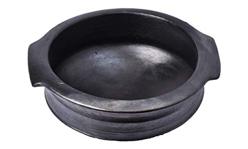 Clay-Pots-India-Premium-Earthen-Cookware-for-Cooking-and-Serving-Handi-Small-Size-Organic-Pre-Seasoned-Natural-Black-2-Liter