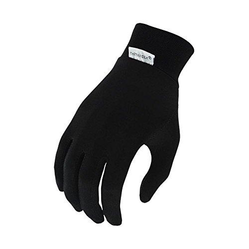 - Terramar Adult Silk Spandex Glove Liner (Black, X-Small)