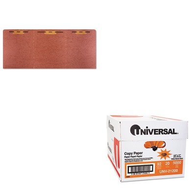 KITNSN4840001UNV21200 - Value Kit - NIB - NISH 7530014840001 Heavy-Duty Tri-Fold File Folder (NSN4840001) and Universal Copy Paper (UNV21200)