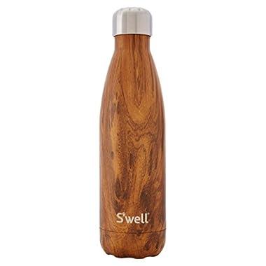 S'well Women's Teakwood Water Bottle, 17 oz