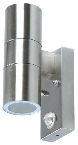 Ranex 5000.257 Wand Außenleuchte mit Bewegungsmelder ,EEK C, 2x GU10 35 Watt 110° Abstrahlwinkel