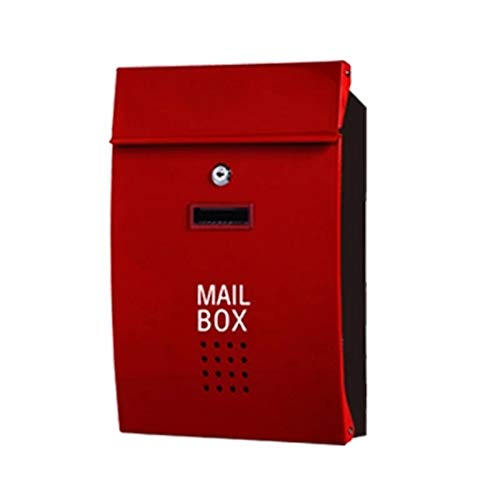 AINIYF Stainless Steel Suggestion Box Letter Box Mailbox with Lock Report Box A4 Ballot Box Election Box Donation Box Merit Box Outdoor Inbox