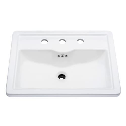 Mirabelle MIRKW458A Key West 22-5/8'' Drop In Bathroom Sink with 3 Holes Drilled, White by Mirabelle