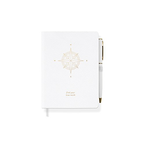 Fringe Tn Compass Faux Leather Journal with Pen (JPS046)