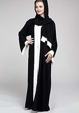 Abaya With White Border - 60