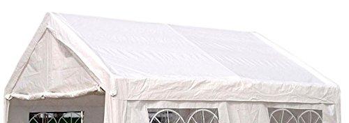 DEGAMO Dachplane/Zeltdach/Ersatzdach 3x4 PVC weiss
