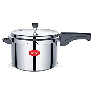 Impex IPC 501 Induction Base Outer Lid Aluminium Pressure Cooker, 5 litres, Silver