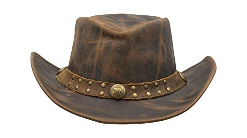 8044303d Walker and Hawkes - Leather Cowhide Outback Brisbane Two Tone Hat ...