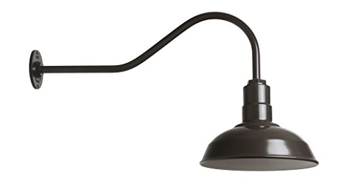 Industrial Barn Light - Farmhouse Lighting - The Westchester Gooseneck Light (Dark Bronze)