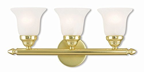 Livex Lighting 1063-02 Neptune 3 Polished Brass Bath Light - Paint Polished Brass