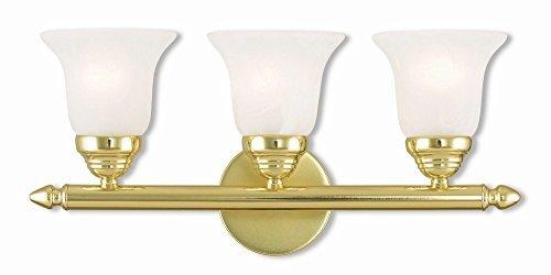 Polished 2 Vanities Brass - Livex Lighting 1063-02 Neptune 3 Polished Brass Bath Light
