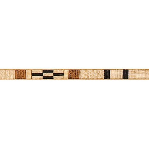 Southwest Inlay - Maple Black Mahogany Southwest Inlay Banding, 3/16 in W