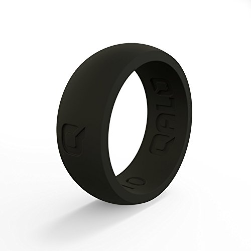 QALO Men's Classic Q2X Silicone Ring, Size 10, Black by QALO