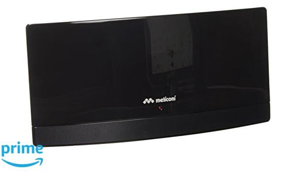 Meliconi AT-55 Interior 55dB - Antena (Interior, Negro, 55 dB, UHF, VHF, Dab,DVB-T,DVB-T HD,DVB-T2, 470-790 MHz): Amazon.es: Electrónica