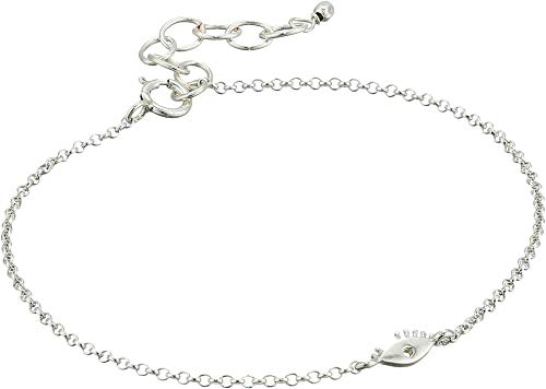 Dogeared Women's The Lucky Charm Bracelet, Eye Charm On Chain Sterling Silver One Size